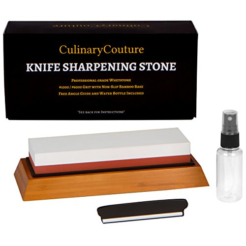 Commercial cool the best amazon price in savemoney whetstone knife sharpening stone kit 2 sided 1000 6000 grit waterstone kitchen fandeluxe Images