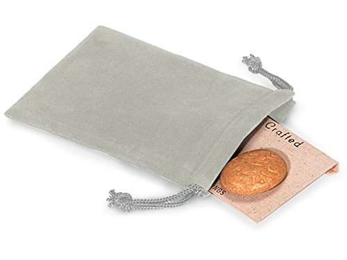 Pack Of 25, Solid Gray Jewelry Pouches 3