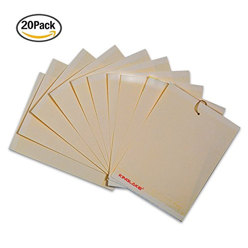kinglaker-20-pcs-dual-sticky-fly-papers-sticky-trap-15-x-25cm-yellow-sticky-fly-paper-stickers-for-f
