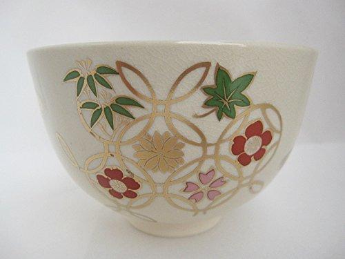 Hana shippo - flower shippo pattern - Ninsei Chawan HONJIEN Japanese Matcha Tea Bowl by Good thing carefully Honji-en