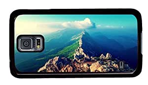 Hipster Samsung Galaxy S5 Case carrying panorama mountains peaks PC Black for Samsung S5