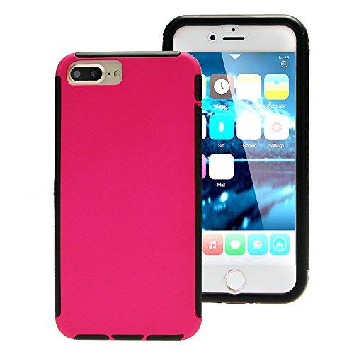 Touch Case Schutz Hülle Displayschutz 360° Full Cover rundum Schutzhülle Tasche Bumper Etui Schale Hard Case Apple iPhone 7 Plus Pink