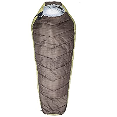 Suisse Sport Alpine Adult Mummy Double Layer Sleeping Bag 33 x 24 x 84 inches , Assorted Dark Brown