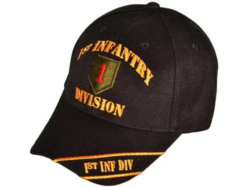 1st Infantry Division Black The Big Red One Embroidered Baseball Cap Ball Hat World War Army