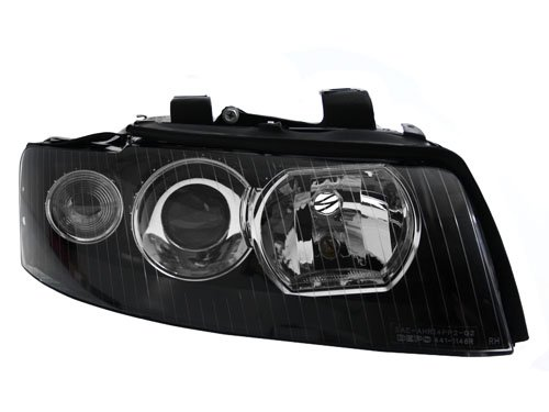02-05 AUDI A4 B6 BLACK E-CODE PROJECTOR HEADLIGHTS (D1S HOUSING)