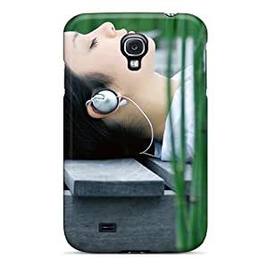 Hot Style WEnoSAY4806QHwbN Protective Case Cover For Galaxys4(girls Outdoors Headphones)