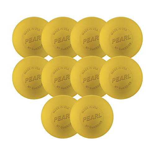The Pearl by Guardian - Pearl X Greaseless Lacrosse Balls (Yellow, 10 Pack)