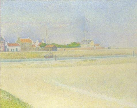 Perfect Effect Canvas ,the High Quality Art Decorative Canvas Prints Of Oil Painting 'Georges Seurat - The Channel Of Gravelines, Grand Fort-Philippe,1890', 16x20 Inch / 41x51 Cm Is Best For (Cinema Costume Ban)