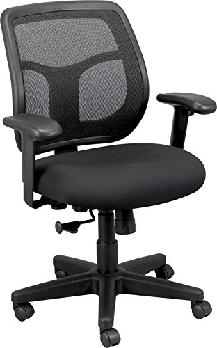 Eurotech Seating Apollo MT9400-BK Midback Swivel Chair, Black