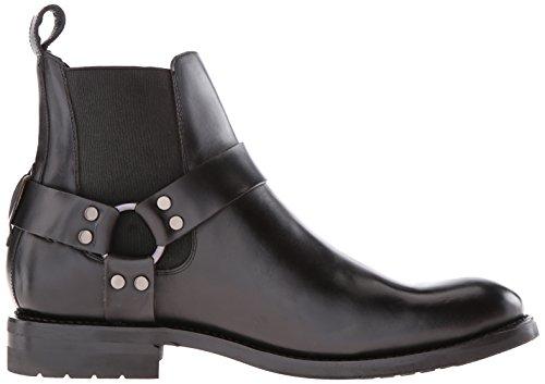 Frye Mens Stone Harness Chelsea Boot Da Moto Nero