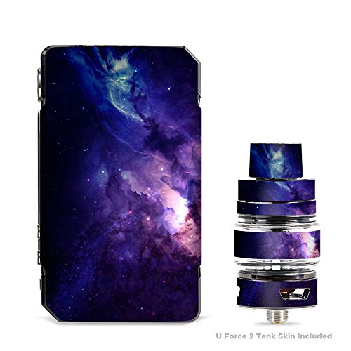 IT'S A SKIN Decal Vinyl Wrap for VooPoo Drag 2 V2 & UForce T2 Tank Vape Sticker Sleeve/Dark Solar Burst Galaxy Nebula ()