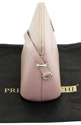 Textured Protective Strap Smoke Triangular Shoulder Branded Bag Italian Crossbody Storage Rose Bag Includes Leather a Adjustable Sacchi® Small Primo qEB6T6