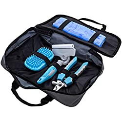 Pet Bath Care Kit Nail - Claw clipper, Massage - deshedding brush, Shedding brush and Quick Drying Towel Set includes tools for any size of animal - small, medium, large dog cat ferret etc.