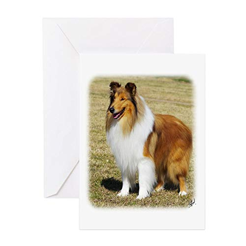 (CafePress Collie Rough AF036D 028 Greeting Card, Note Card, Birthday Card, Blank Inside Matte)