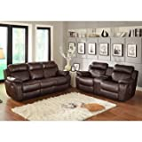 Product review for Homelegance Marille 2 Piece Reclining Living Room Set In Brown Leather