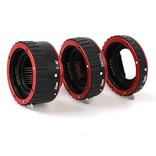 Macro metal Auto Focus Extension Tube for Canon EOS Camera Red 5d 6d 60d 600d 7d 70d 700d 1100d 500d 650d Canon SLR Cameras CANON EF EF-S Lens