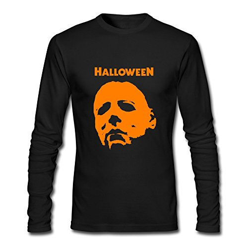 QIANMY Men's Michael Myers Halloween Attack Long Sleeve T-shirts Size -