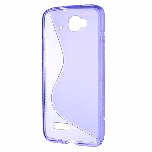 Alcatel One Touch Idol Mini OT-6012 Cases,Dulcii S Shape TPU Gel Cover for Alcatel One Touch Idol Mini OT-6012A OT-6012D OT-6012E OT-6012X,Purple