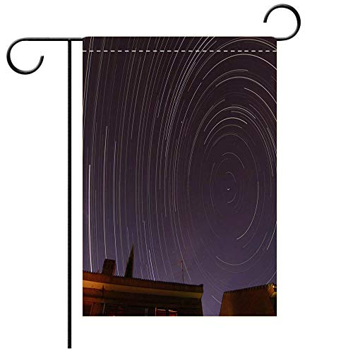 Custom Personalized Garden flag Outdoor flag The stars travels around the north celestial pole making circles around Polaris in the Decorative Deck, patio, Porch, Balcony Backyard, Garden or Lawn