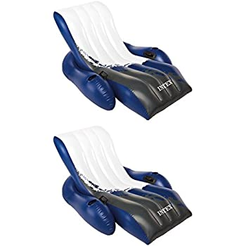 Amazon Com 2 Intex Floating Recliner Lounge Float W Cup