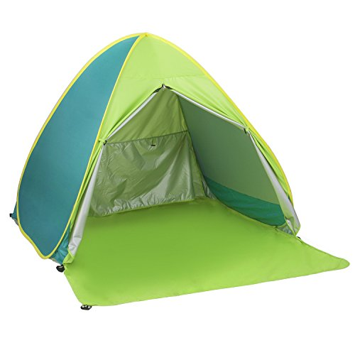 Elover Automatic Pop Up Beach Tent Outdoor Sun Shelter Camping Hiking Backpacking Tent for 1-2 Person