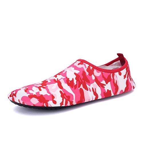 aire buceo transpirable playa natación camuflaje Zapatos de y funcional deportes zapatos suave Lucdespo al S libre 168 rojo multi elástica cSq8X0xW