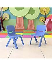 عبوة من قطعتين من كرسي المدرسة البلاستيكي الازرق القابل للتكديس بارتفاع المقعد 13.25 بوصة من فلاش فيرنيتشر