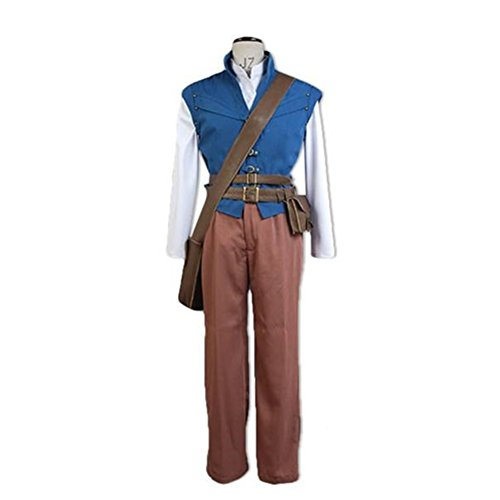 Rapunzel Tangled Flynn Rider Adult Cosplay Costume