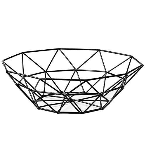 Fruit Stand Vegetables Serving Bowls Basket Holder for Kitchen Counter,Table Centerpiece Decorative,Countertop,Home Decor,Metal Iron Wire,Modern Stylish Rack for Banana,Fresh Veggie,Orange,Buffet,Eggs from Pimuza