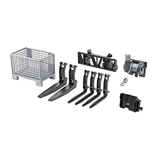 Bruder 02318 Accessories for Front Loader: Box-Type Pallet, Winch and Forks