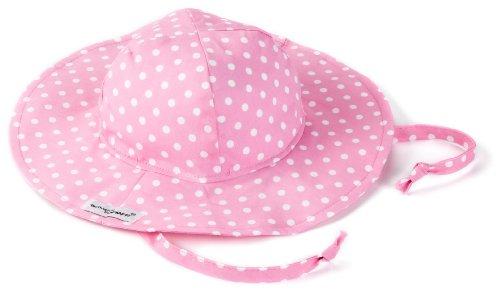 Flap Happy Floppy Hat, Pink Dot X Large