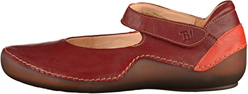 37 282060 Cheville Femme EU Rouge Ballerines Rot à Kapsl Think Bride 64w88q