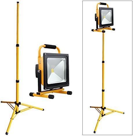 LED BauStrahler 50W tragbar mobil 6500K Kaltweiß 3000 Lumen Arbeitsleuchte NEU