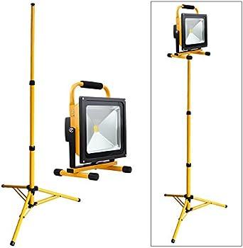 Abri etc VINGO/® 50W Blanc Projecteur LED Portable Rechargeable Pour Camping Terrasse Garage Jardin