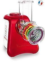 Moulinex DJ812510 Rallador eléctrico, 260 W, acero inoxidable, color rojo