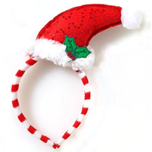 Mini Santa Hat with Mistletoe (Childrens Christmas Hats)