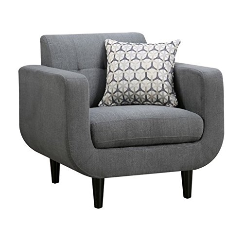 Coaster Home Furnishings 505203 Stansall Collection Chair, NULL, Grey - Modern Traditional Chair