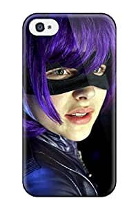 Hot 1365113K87793959 Top Quality Case Cover For Iphone 4/4s Case With Nice Kick Ass Hit Girl Chloe Moretz Appearance