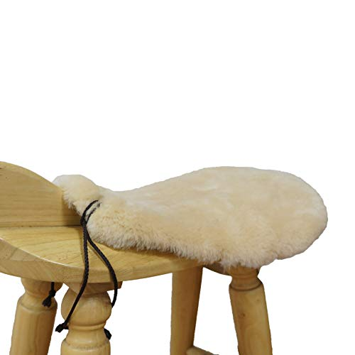 Golden Mall Western Merino Sheepskin Saddle Seat Saver Wool Saddle Cover Fleece Horse Pad (Beige, with Cover)