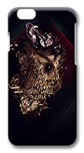 IMARTCASE iPhone 6 Case, Artistic Grizzly Bear iPhone 6 Plus Case TPU White