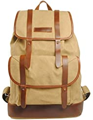 Bronze Times(TM) Large Capacity Sturdy Canvas Rucksack Hiking Backpack