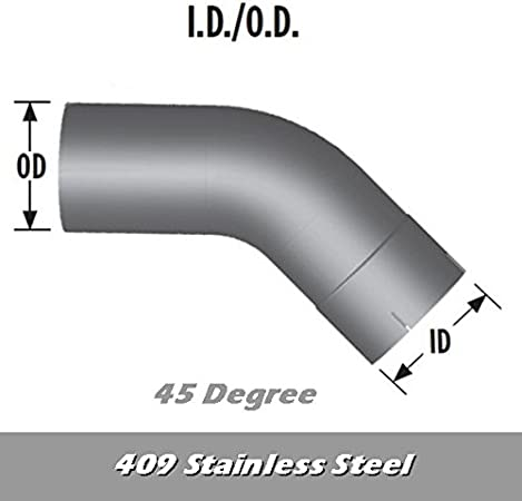 45 Degree , One End OD, One End ID Heavy Duty Manufacturing 11-500-45A Aluminized Elbow
