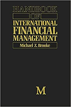 Handbook of International Financial Management