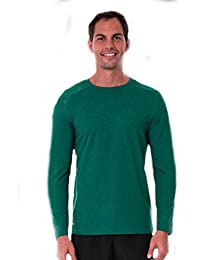 Big Mens Dual Face Long Sleeve Waffle Top 2XL (Teal)