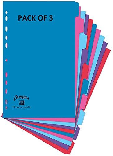 A4, 10, color Assorted A4 Oxford Campus 400013920/ /Separadores para archivador