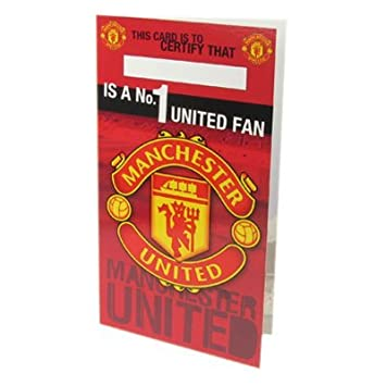 Official manchester united fc no 1 fan birthday card a great official manchester united fc no 1 fan birthday card a great birthday gift present bookmarktalkfo Choice Image