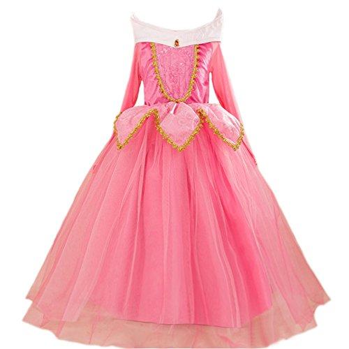 JiaDuo Girls' New Princess Beauty Costume Birthday Party Dress Up 120 Pink