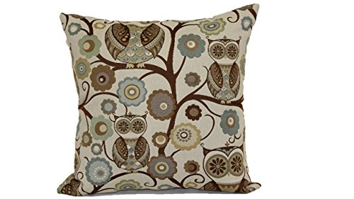 41xtmCoDGBL - Brentwood Originals 8108 Wise Owl Pillow, 18-Inch, Atlantis