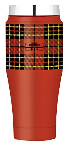 Retro Thermos (Thermos 16 Ounce Travel Tumbler, Red Plaid)