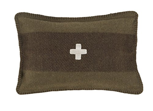 Swiss Army Pillow Cover 14x20 Green/Brown ()